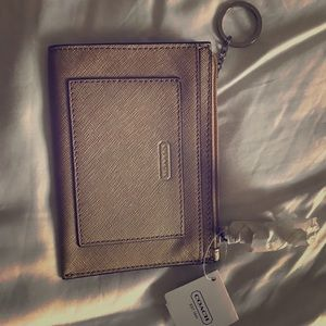 Coach mini skinny keychain coin purse